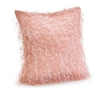 Rose Pink Pillow With Thread Design 11x11 from Burton & Burton