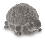 Hand Painted Gray White Wash Porcelain Turtle Figurine from Burton & Burton