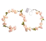 Pink & White Cherry Blossom Lighted Garland 60 Inch (Battery Operated) from Burton & Burton