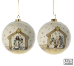 Set of 14 Nativity Manger Scene Hanging Christmas Ornaments (A Child Is Born & Peace On Earth) from Burton & Burton