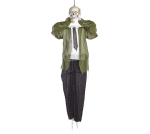 Halloween Themed Hanging Skeleton With Light Up Eyes & Audio (Battery Operated) 64 Inch from Burton & Burton