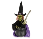 Halloween Themed Animated Witch & Cauldron 24 Inch from Burton & Burton