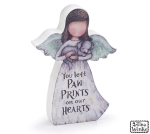 Dog Bereavement Angel Figurine (You Left Paw Prints On Our Hearts) 5.5 Inch from Burton & Burton