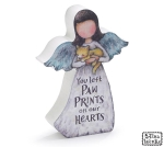 Cat Lover Bereavement You Left Paw Prints On Our Hearts Wooden Angel Figurine 5.5 Inch from Burton & Burton