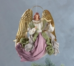 Set of 2 Pastel Clothing Angel Hanging Ornament Figurine 10 Inch from Burton & Burton