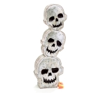 Stacked Wood Luck Wooden Skulls Figurine 12 Inch from Burton & Burton