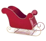 Red Sleigh Shaped Tin Pot Planter from Burton & Burton