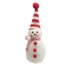Set of 12 Red & White Snowman Christmas Ornaments In Wood Crate from Burton & Burton