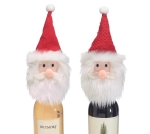 Set of 2 Santa Face Wine Bottle Toppers from Burton & Burton