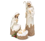 3 Piece Holy Family Woodland Nativity Figurine Set from Burton & Burton