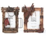 Set of 2 Western Themed Photo Picture Frames from Burton & Burton