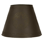 Rustic Brown Star Design Top Lamp Shade 9x17x12 from CTW Home Collection