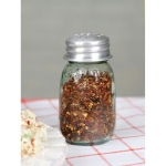 Mini Mason Glass Crushed Red Pepper Shaker 4.25 Inch x 2.25 Inch from CTW Home Collection