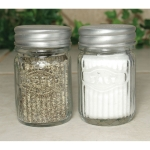 Set Of Two Hoosier Clear Glass Salt And Pepper Shaker Set from CTW Home Collection