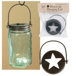 Star Top Design Hanging Mason Jar Lid 3.75 Inch Diameter from CTW Home Collection