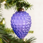 Purple Grapes Hanging Glass Christmas Ornament Set of 4 from CTW Home Collection