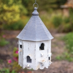 Bungalow Distressed Looke Metal Birdhouse 9x9x15 from CTW Home Collection