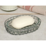 Oval Galvanized Metal Soap Dish with Glass Liner from CTW Home Collection