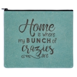 Home Is Where My Bunch of Crazies Are Travel Makeup Tote Bag from CTW Home Collection