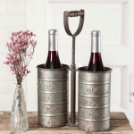 Rustic Wine Bottle Caddy with Handle from CTW Home Collection