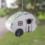 Camper Shaped License Plate Roof Birdhouse from CTW Home Collection
