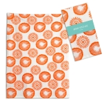Clementine Orange & White Geometric Print Cotton Kitchen Dish Tea Towel 20x28 from CTW Home Collection
