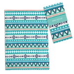 Bohememian Themed Geometric Design Cotton Kitchen Dish Tea Towel 20x28 from CTW Home Collection