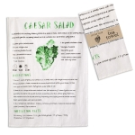 Caesar Salad Recipe Cotton Kitchen Dish Tea Towel 20x28 from CTW Home Collection