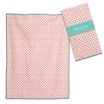 Coralee Pink Cotton Kitchen Dish Tea Towel 20x28 from CTW Home Collection