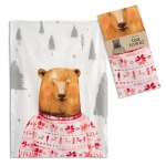 Bear In Holiday Sweater Cotton Kitchen Dish Tea Towel 20x28 from CTW Home Collection