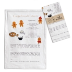 Gingerbread Recipe Cotton Kitchen Dish Tea Towel 20x28 from CTW Home Collection