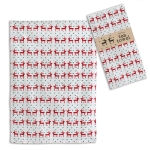 Red & White Reindeer Print Design Cotton Kitchen Dish Towel 20x28 from CTW Home Collection
