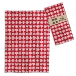 Red & White Snowflakes Print Design Cotton Kitchen Dish Tea Towel 20x28 from CTW Home Collection