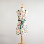 Colorful Floral Print Design Cotton Kitchen Apron from CTW Home Collection