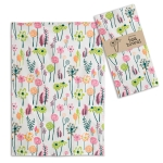 Colorful Floral Print Design Cotton Kitchen Dish Tea Towel 20x28 from CTW Home Collection