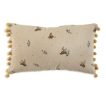 Bumblebees Accent Decorative Cotton Throw Pillow with Pom Poms 14x26  from CTW Home Collection