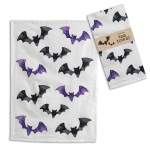 Black and Purple Bats Cotton Kitchen Dish Tea Towel 20x28 from CTW Home Collection