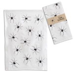 Black & White Spider Print Design Cotton Kitchen Dish  Tea Towel 20x28 from CTW Home Collection