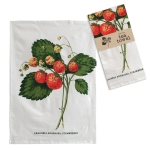 Strawberries Print Design Cotton Kitchen Dish Tea Towel 20x28 from CTW Home Collection
