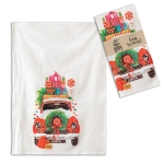 Colorful Christmas Car With Presents Cotton Kitchen Dish Tea Towel 20x28 from CTW Home Collection