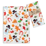 All Things Christmast Holiday Themed Cotton Kitchen Dish Tea Towel  20x28 from CTW Home Collection