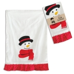 Jolly Snowman With Red Scarf Cotton Kitchen Dish Tea Towel 20x30 from CTW Home Collection