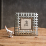 Metal Edison Photo Picture Frame (Holds 4x4 Photo) from CTW Home Collection