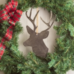 Large Metal Reindeer Silhouette Christmas Ornament 6.5 Inchx 10.25 Inch from CTW Home Collection