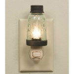 Rustic Mason Jar Shaped Night Light 5 Inch x 1.75 Inch from CTW Home Collection