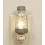 Mason Jar Night Light Barn Roof 1.75 Inch x 5 Inch from CTW Home Collection