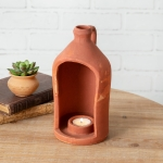 Large Terra Cotta Jug Shaped Tea Light Candle Holder 9.5 Inch from CTW Home Collection