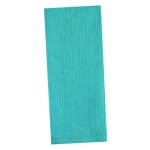 Caribbean Blue Waffle Cotton Dish Towel 18x28 from Design Imports