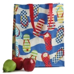 Colorful Flip Flops Design Shopping Tote Bag from Design Imports