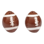 Football Ceramic Salt & Pepper Shaker Set from Design Imports
